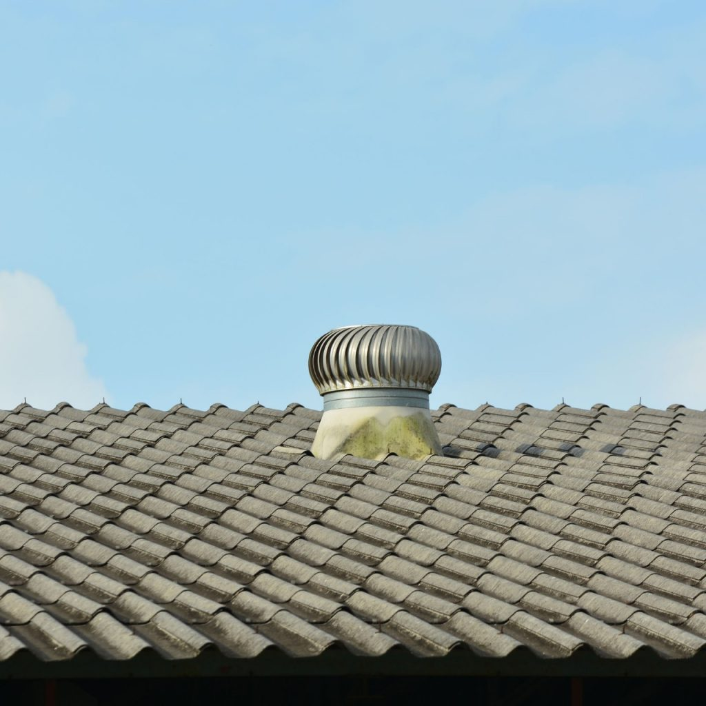 attic ventilation on a tile roof
