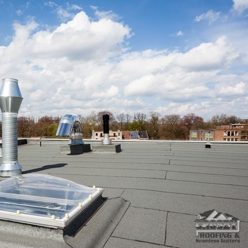 Flat Roof With Skylight & Chimney